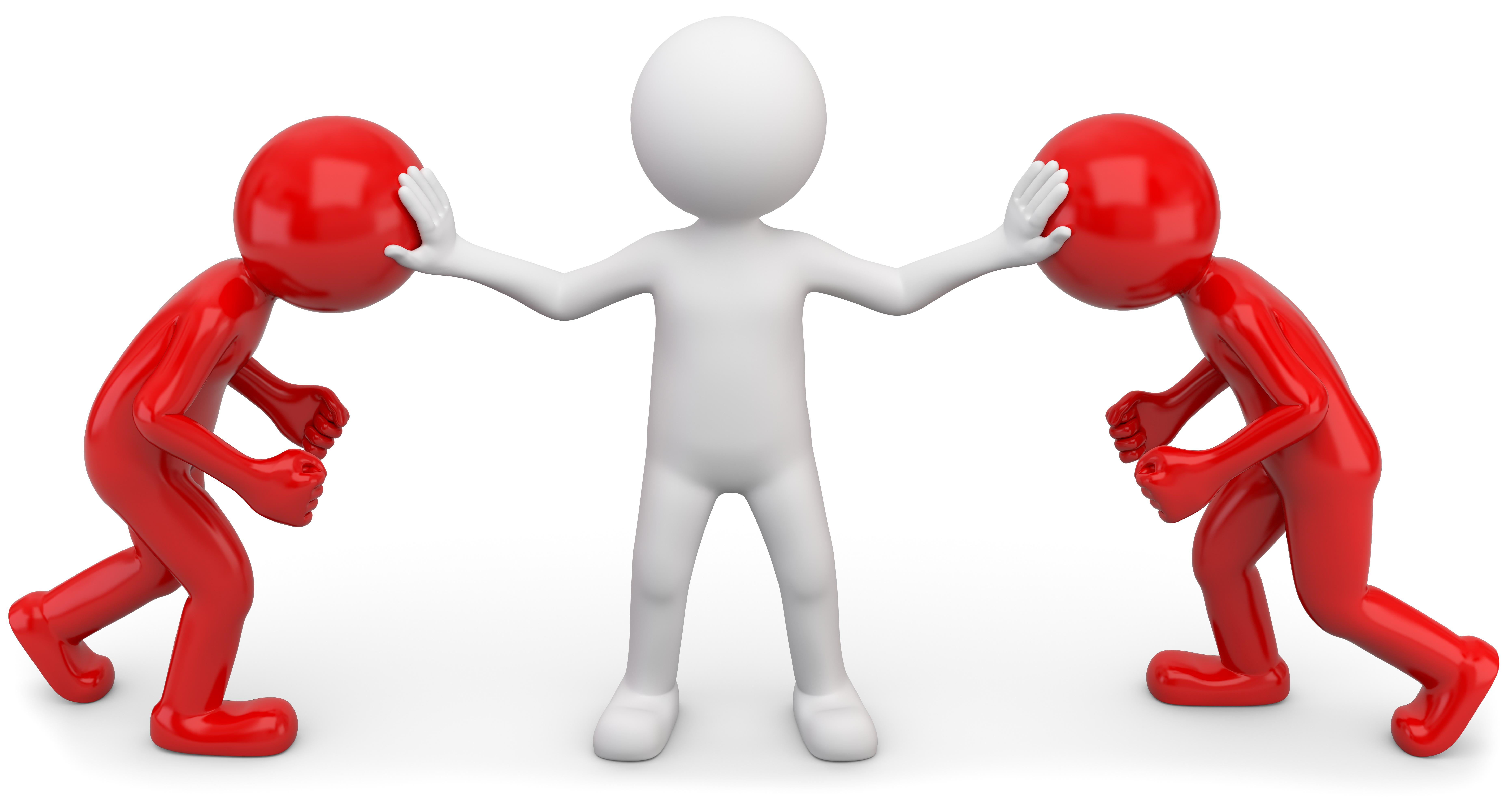 Une personne qui résout un conflit entre deux personnes
