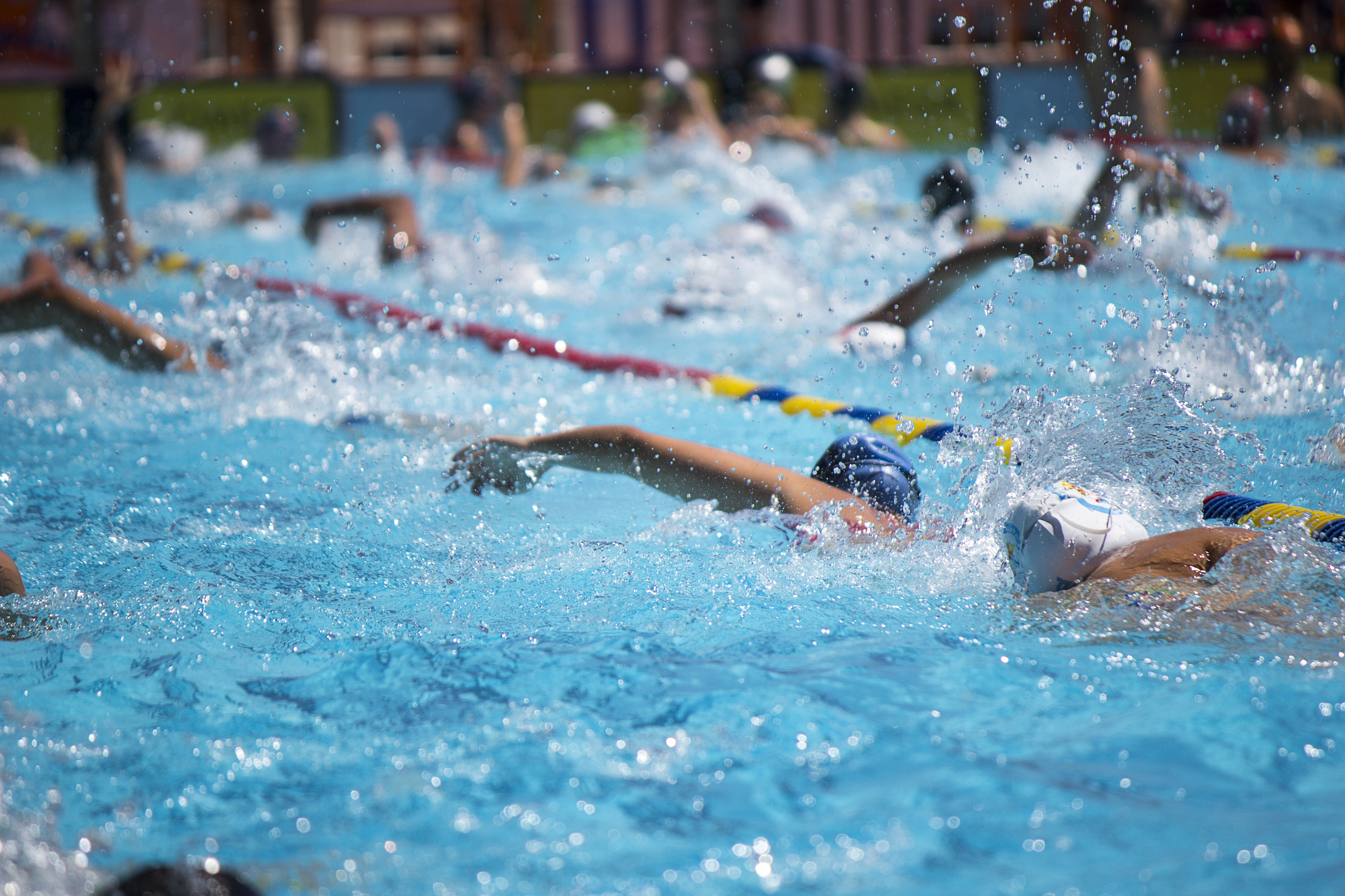 Youth swimmers in training