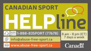 Canadian Sport Helpline business card