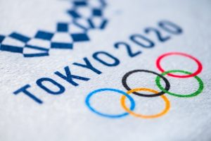 summer olympic game. tokyo 2020, white background
