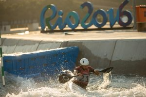Cam Smedley and Michael Tayler in training at the Whitewater Stadium, Deodoro Park, Rio De Janeiro. David Jackson/ COC