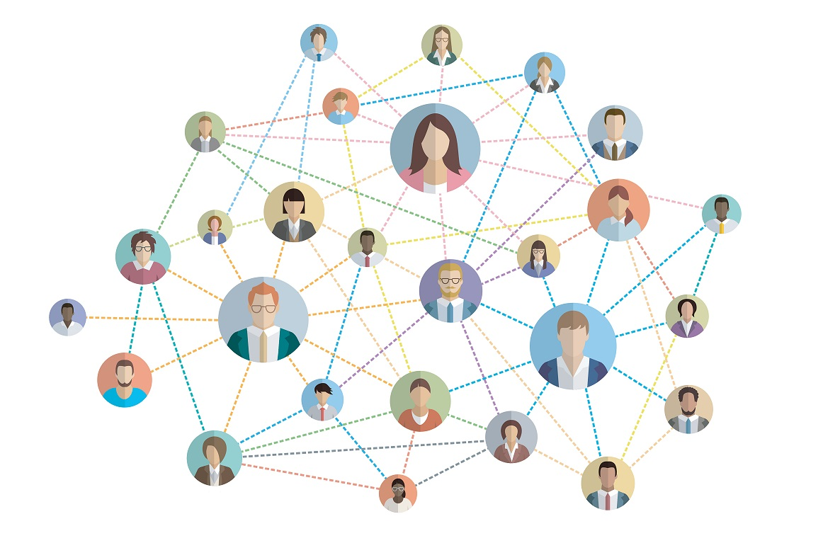 people connection internet web colored