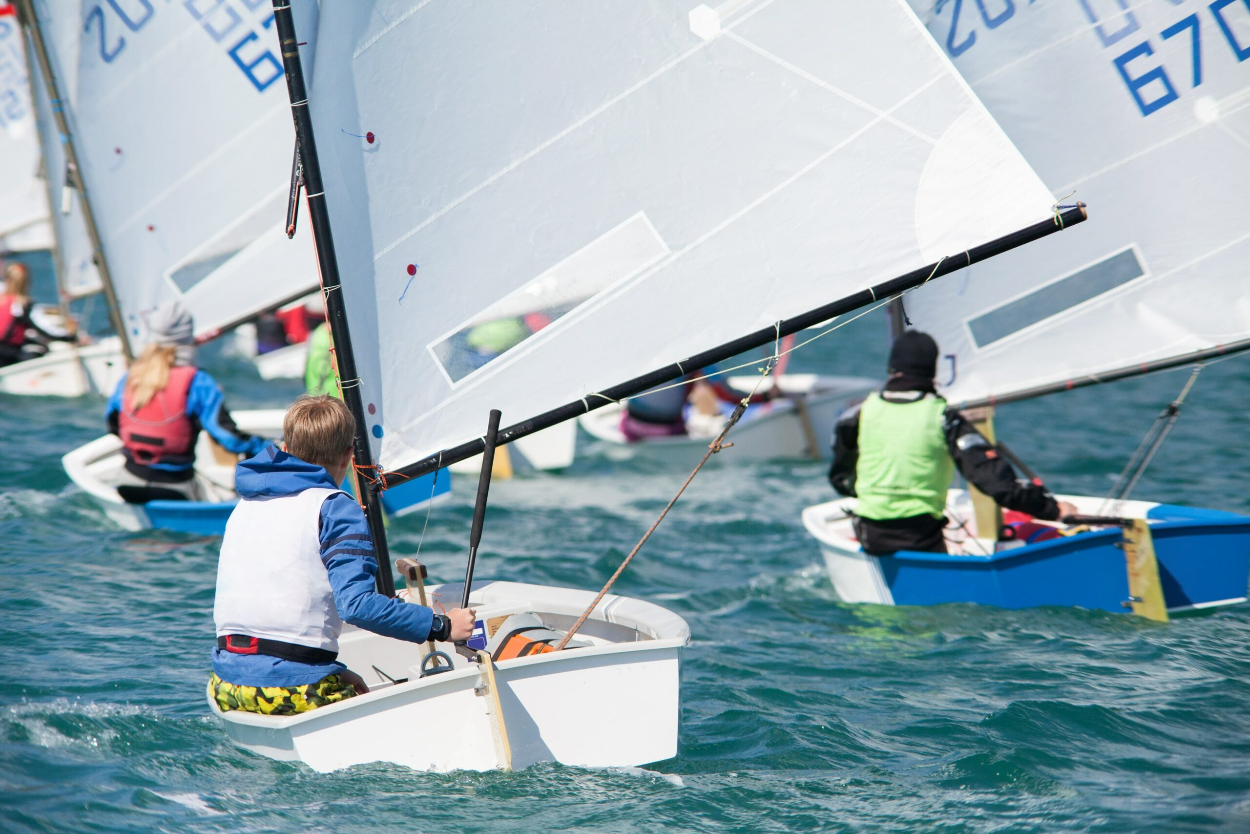 Youth at a sailing regatta