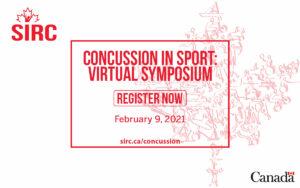 SIRC's 2021 Concussion in sport symposium - register now graphic