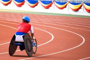 parasport athlete wheelchair race