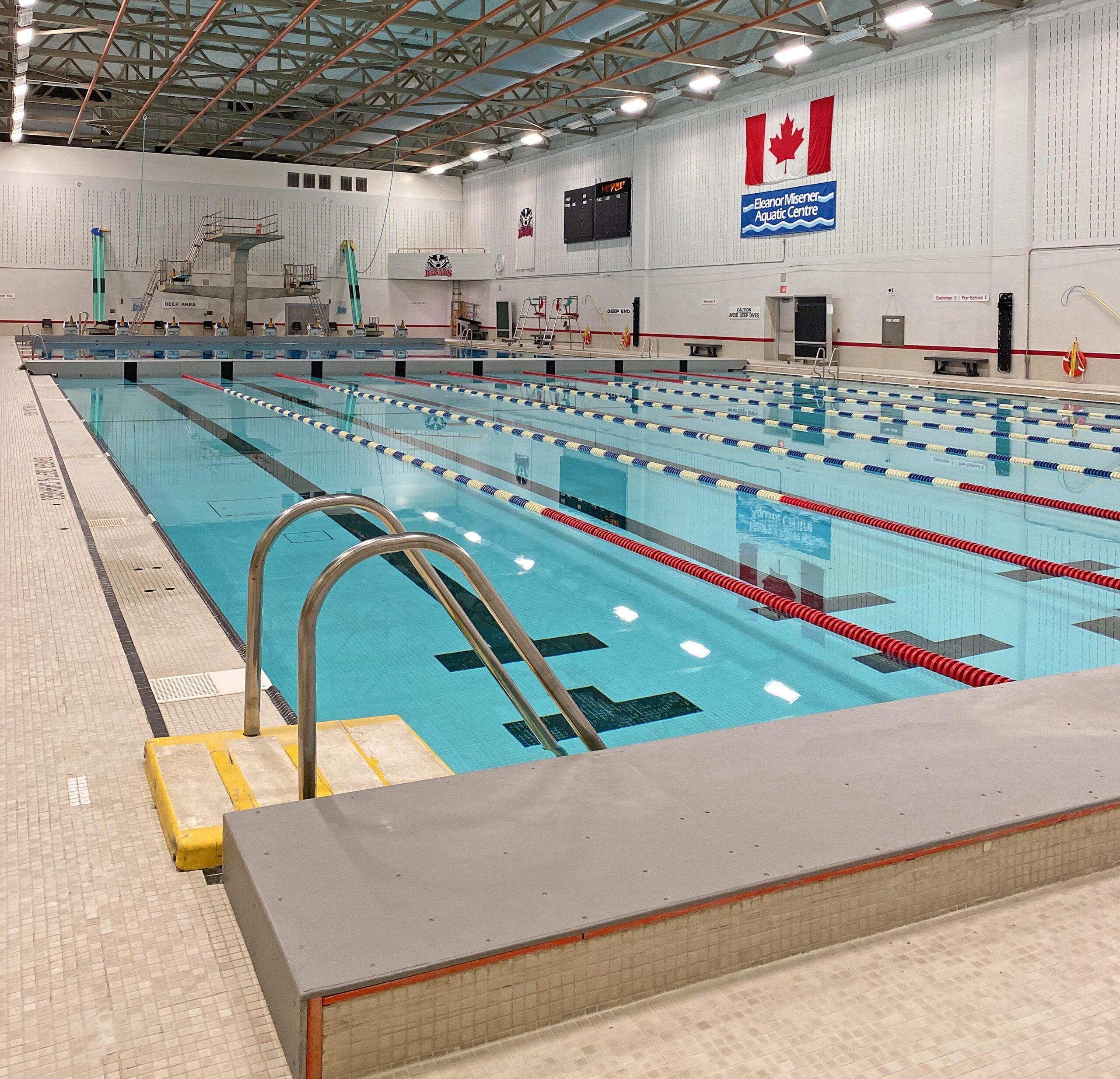 Brock University's indoor swimming facility.