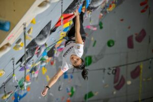 Photo of athlete Alannah Yip climbing
