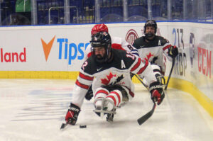 Team Canada competes in Para Ice Hockey action in Ostrava