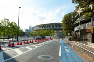 Tokyo Olympic Stadium in Shinjuku City, Tokyo, Japan
