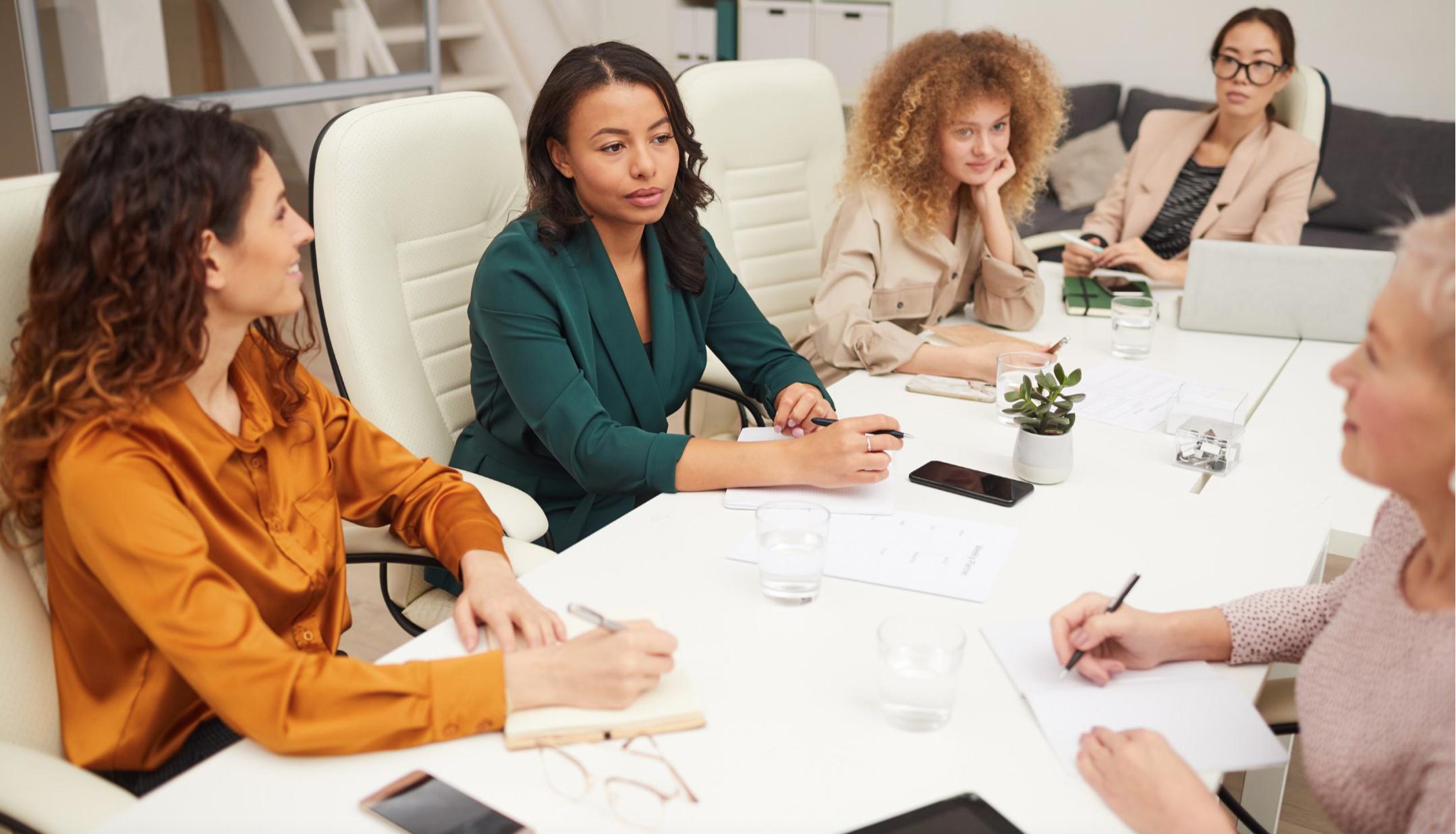 Women in a boardroom